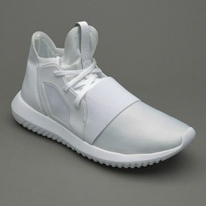 "Adidas ""White on White"" Tubular Defiant"